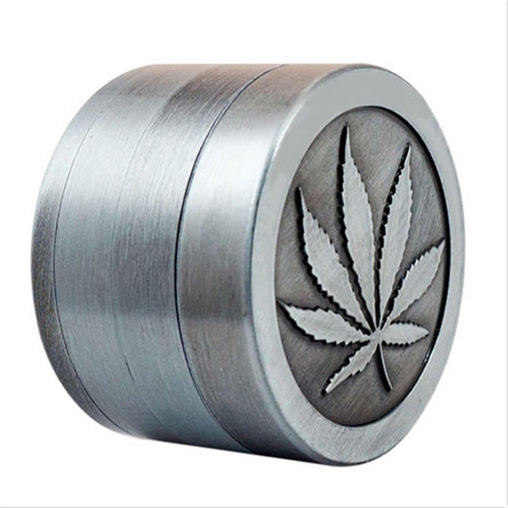4 層亜鉛合金ハーブグラインダー 40 ミリメートルspice grass weedタバコ煙グラインダー男性喫煙アクセサリー