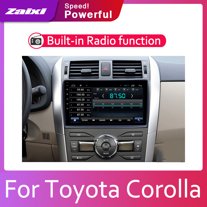 ZaiXi Android 2 Din Car radio Multimedia Video Player auto Stereo GPS MAP For <font><b>Toyota</b></font> <font><b>Corolla</b></font> <font><b>E140</b></font> <font><b>E150</b></font> 2007~2013 Media Navi image