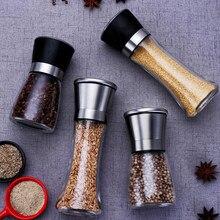 Moulin à sel et poivre en acier inoxydable moulins à herbes alimentaires manuels contenants à épices gadgets de cuisine bouteilles à épices en verre