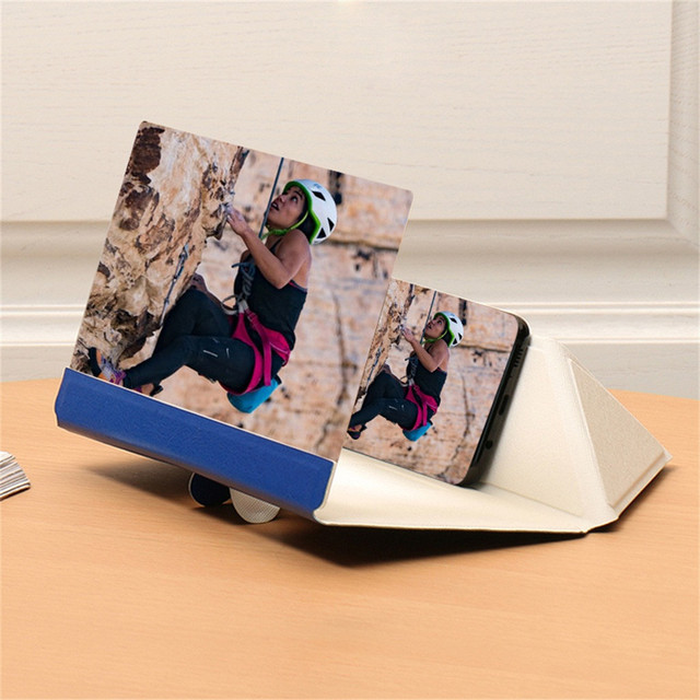 8 Inch Portable Mobile Phone Screen Amplifier for iPhone Samsung Xiaomi Phone HD Curved 3D