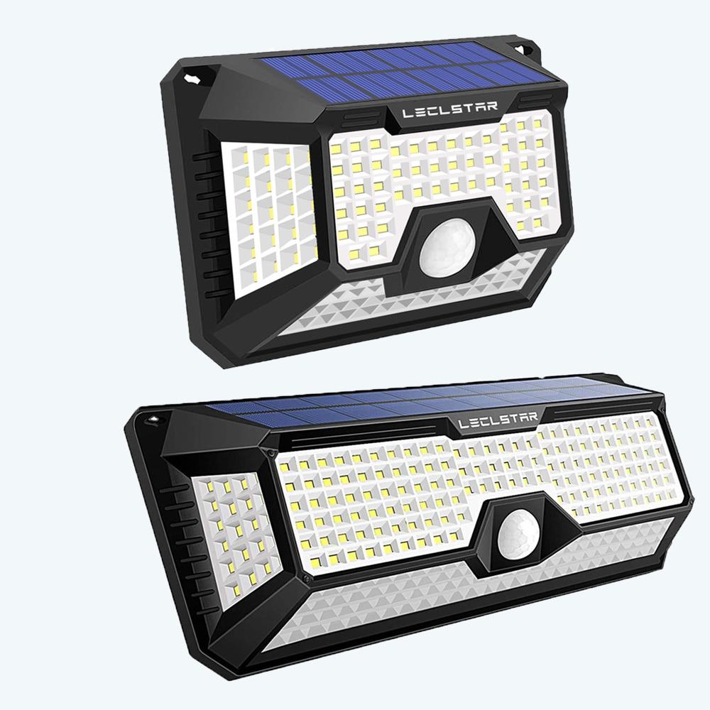 solar light solar light outdoors Super Helle Solar Street Lampe 128/268 LED Solar Beleuchtung Lampe Mit Motion Sensor Outdoor scheinwerfer Wasserdicht Dekoration Garten