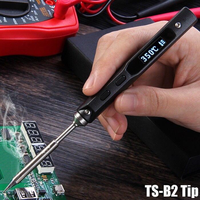 TS100 65 W Mini Électrique Fer À Souder Station Kit Numérique LCD Programmable Affichage Réglable Température avec BC2 Souder Astuce