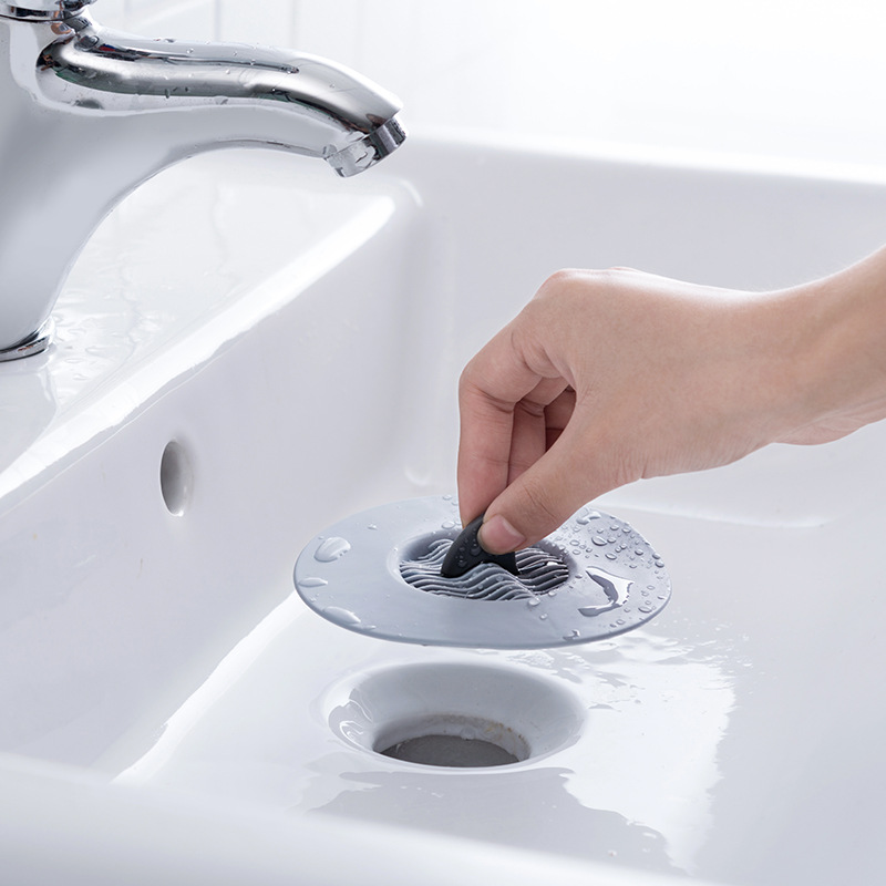 Shark Shape Floor Drain TPR Material Plug Sewer Pool Silicone Bathtub Wash Basin Leak Plug