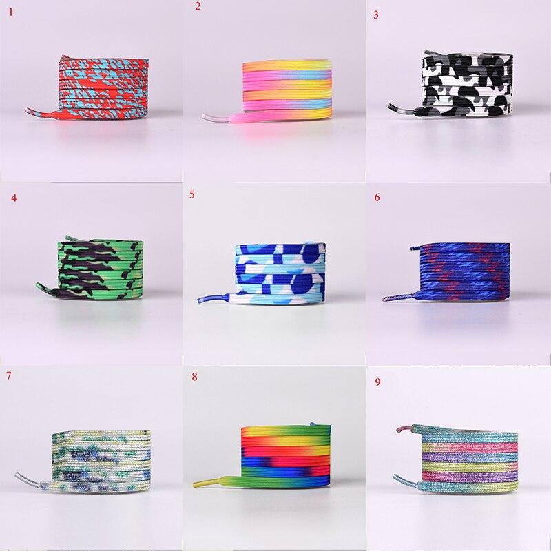 1 Pair Gradient Colorful Camouflage Shoelaces For Sneakers Elastic No Tie Lazy Shoelaces Women Men's Casual Rainbow Shoe Strings