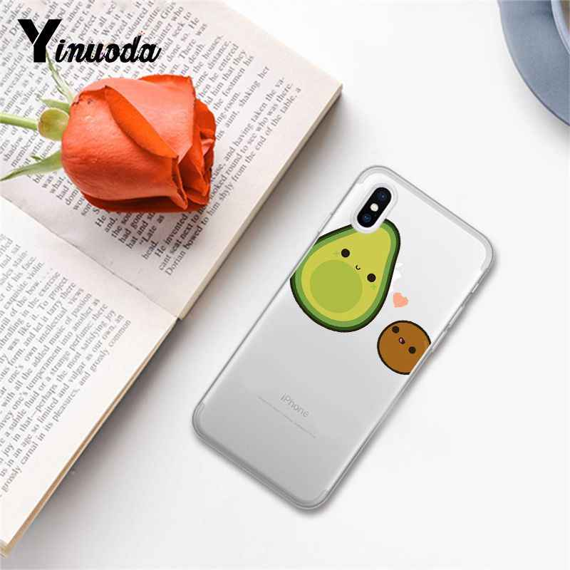 Yinuoda Cartoon cute avocado DIY Painted Phone Case for iPhone X XS MAX  6 6s 7 7plus 8 8Plus 5 5S SE XR 10