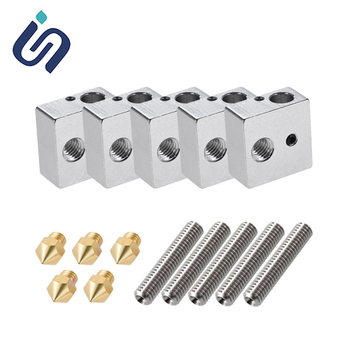 15PCS 0.4mm Extruder Nozzle Print Heads+.75mm Teflon Throat Tube+Heater Blocks Hotend For MK8 Makerbot Anet A8 3D Printer Parts 3d printer parts cyclops 2 in 1 out 2 colors hotend 0 4 1 75mm 12v 24v fan bowden with titan bulldog extruder multi color nozzle