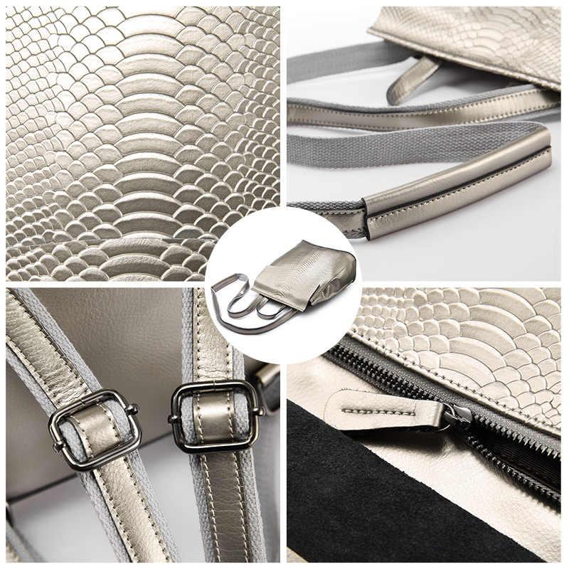 REALER sırt çantası kadın seyahat çantası bölünmüş deri sırt çantaları okul için yüksek kapasiteli moda çok fonksiyonlu çanta bayanlar 2020
