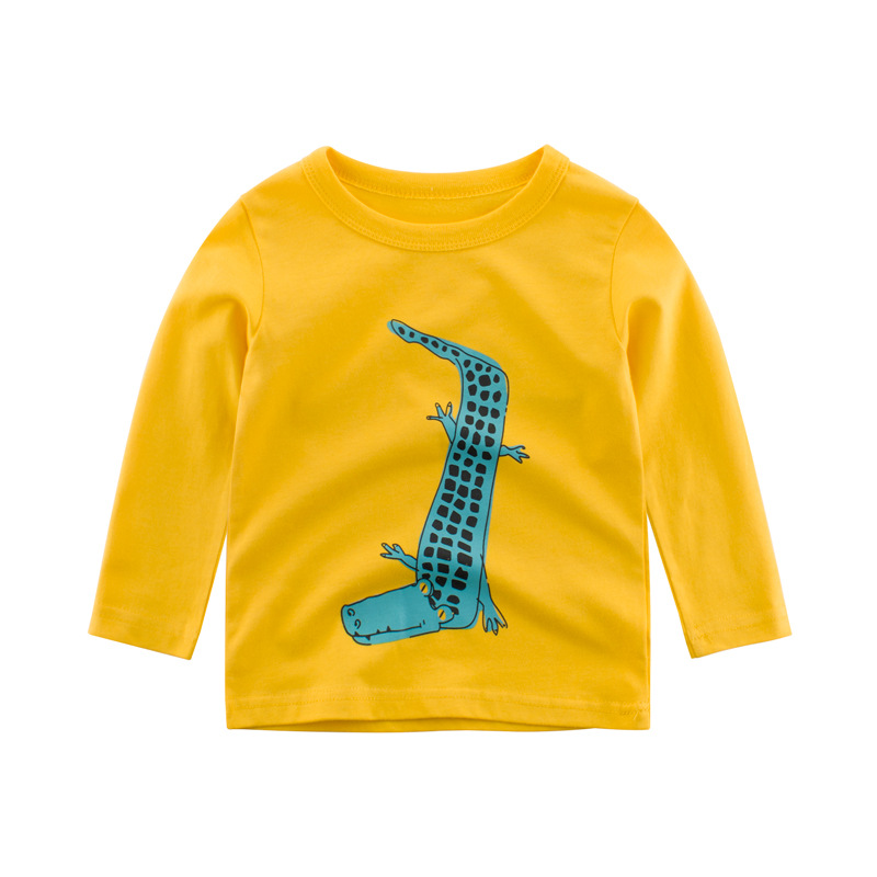 Kids Clothing T shirts Print Girls Boys Cotton Children The Crocodile Baby Toddler Tops Cartoon Full Long Sleeves Clothes in T Shirts from Mother Kids