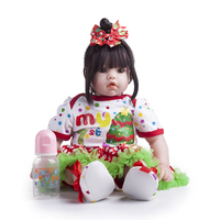 55cm New Design Silicone Reborn Baby Dolls Cute Princess Bebe Realistic Boneca Lifelike Real Girl Doll lol Toys for Children