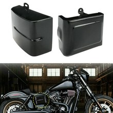 1 Pair Motorcycle Side Battery Cover Guard Frame Fits for Dyna Fat Bob Super Glide Wide Glide Switchback 06-17 (Gloss Black)(China)