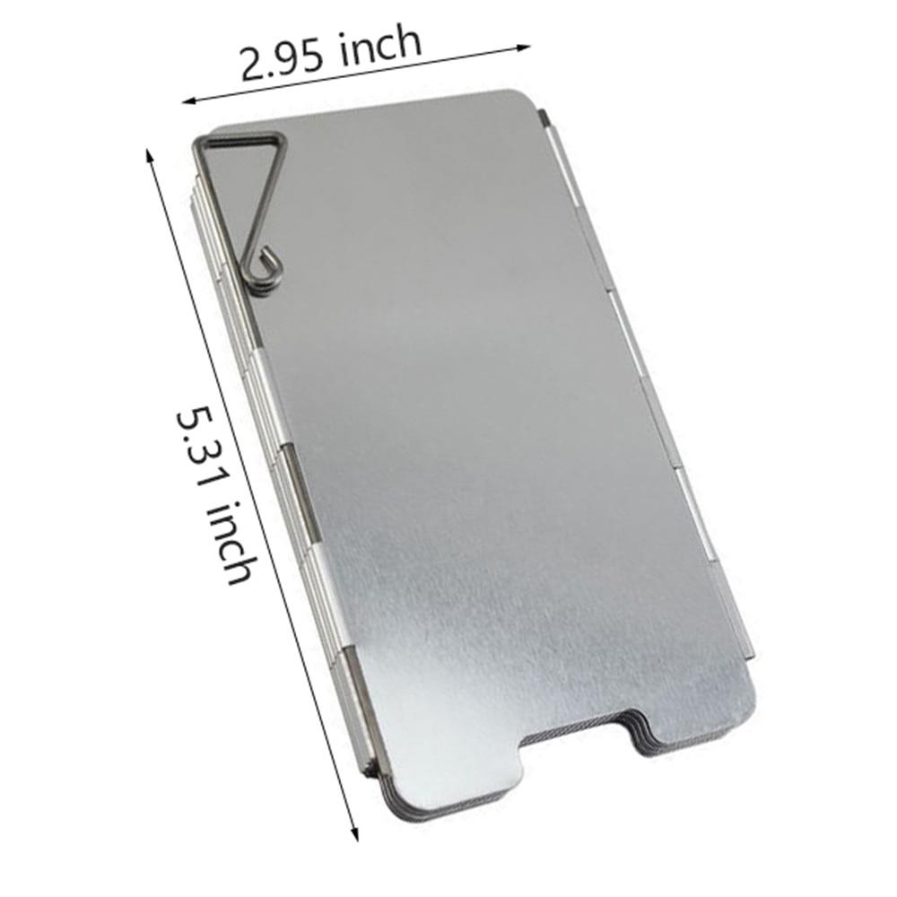 Портативный 9 тарелок плита ветер щит складной на открытом воздухе пикник барбекю газ плита кемпинг экран ветер защита посуда