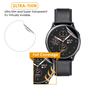 Image 2 - 3Pack For Samsung Galaxy Watch Active2 40mm/44mm Smart Watch 5H TPU Nano Anti shock High Definition Screen Protector Clear Film