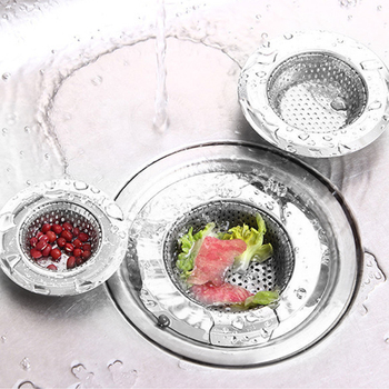 Kitchen Mesh Sink Strainer Drain Sink Filter Plastic Colander Kitchen Food Stopper Rice Sink Hair  Silicone Stainless Steel stainless steel cooking colander pro kitchen strainer noodles colander two types food filter strainer