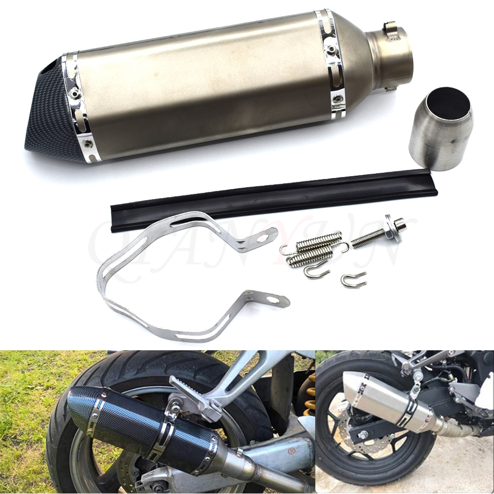 for 38-51mm Motorcycle <font><b>Exhaust</b></font> Muffler Pipe Scooter Dirt Pit Bike Tube For <font><b>HONDA</b></font> PCX125 PCX150 CBF125 CBR125R CBR150R <font><b>CBF</b></font> <font><b>600</b></font>/S image