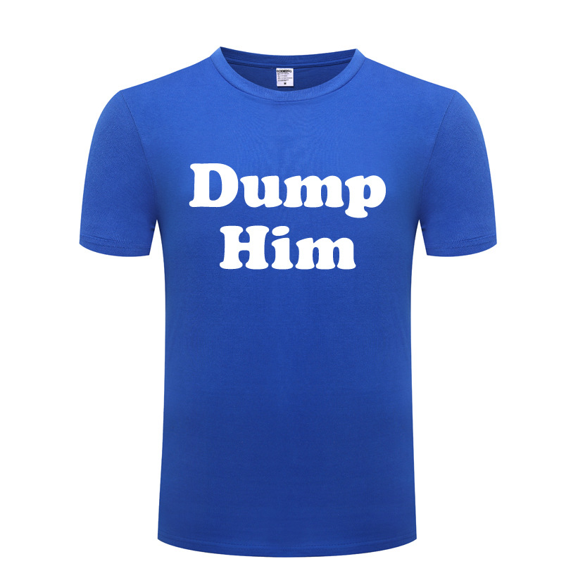 DUMP HIM-SLOGAN X FACTOR <font><b>SEAN</b></font> MOORE <font><b>T</b></font> <font><b>Shirt</b></font> Men Cotton Short Sleeve Funny Tshirt Streetwear Fitness <font><b>T</b></font>-<font><b>Shirt</b></font> for Men Big Size New image