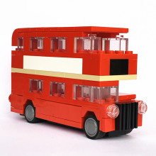 Ideeën Mini Dubbeldekker London Bus Bouwstenen Sets Bakstenen Kinderen Model Kids Stad Schepper Toys Marvel Compatibel Auto Duplo(China)