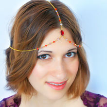 Fun beauty fashion wave tassel chain headgear european and american