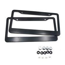 2 шт черная рамка для автомобильного номерного знака из алюминиевого