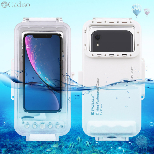 Cadiso 45m/147ft Waterproof Diving Housing Smartphone Dive Taking Underwater Cover Case for iPhone 11/X/8 Plus/8/7 Plus/7 iOS 13