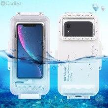 Cadiso carcasa impermeable para buceo 45m/147ft, funda subacuática para teléfono inteligente, para iPhone 11/X/8 Plus/8/7 Plus/7 iOS 13