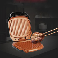 220v Electric BBQ Grill 900W Household Barbecue Machine Grill Electric Hotplate Smokeless Grilled Meat Pan Electric Grill