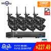 2MP CCTV система 1080P 8ch HD Беспроводной NVR комплект 3 ТБ HDD наружная ИК Ночная IP Wifi камера система безопасности видео наблюдение Hiseeu