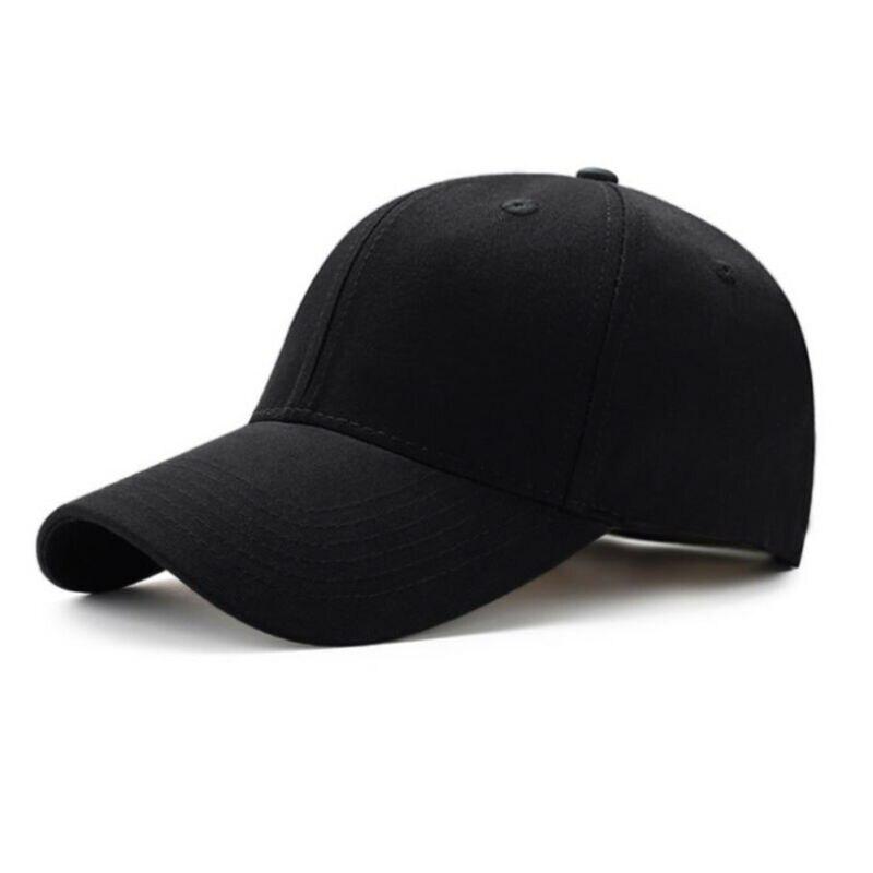 Hot Baseball Cap Ball Dad Hat Adjustable Visor Solid Washed Cotton Unisex Fashin Casual Elastic Adult Women Sunshade Black Hat