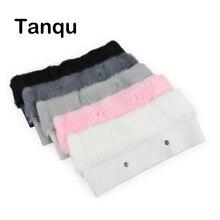 Tanqu yeni 11 renkler kadın çantası peluş Trim O çanta termal peluş dekorasyon tavşan kürk için klasik büyük mini Obag