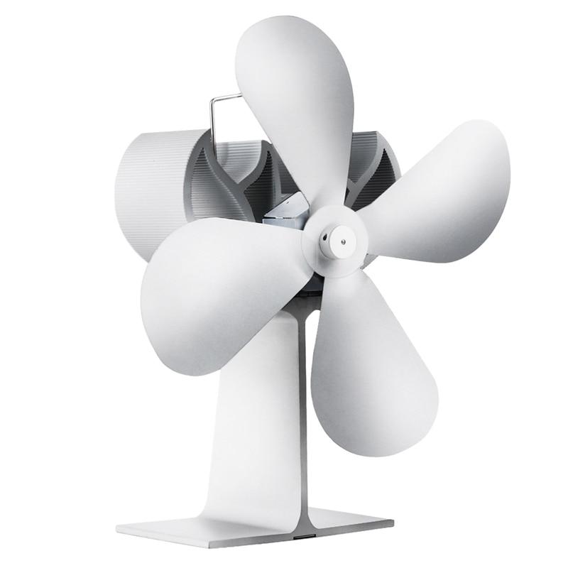 4 Blade Heat Powered Wood Stove Fan For Log Wood Burner/Fireplace Eco Fan