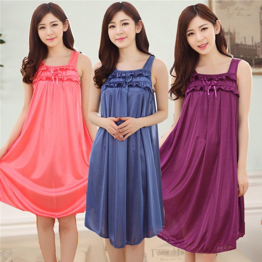 New Style Women's Summer Viscose Thin Sexy Pajamas Tracksuit Slip Nightdress Women's Comfortable Cool And Refreshing