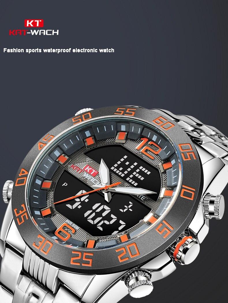 à prova dwaterproof água aço inoxidável banda relógios para negócios