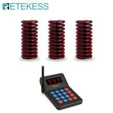 RETEKESS 999 канальный пейджер для ресторана, беспроводная система подкачки и вызова, зуммер для кафе-магазина, церковного ресторанного оборудования
