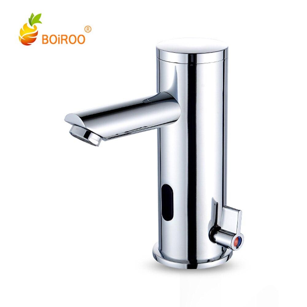 Capteur infrarouge automatique cuisine bassin évier robinet chaud froid mélangeur robinet mitigeur pont montage cuivre robinet