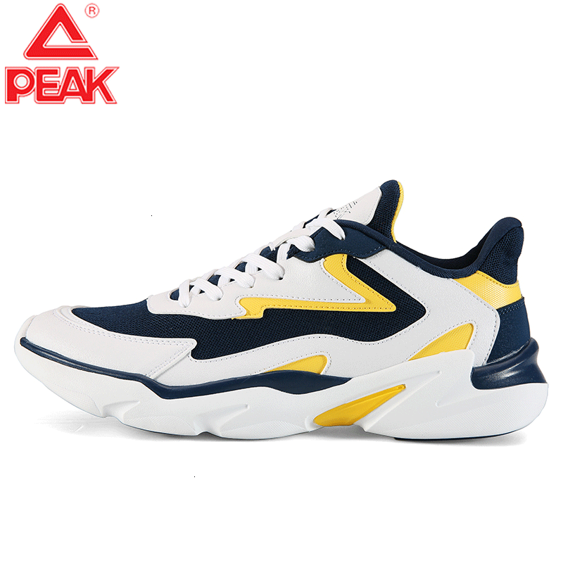 PEAK Lifestyle Breathable Non-slip Wearable Youth SneakersMen Leisure Shoes Walking Fitness Shoes Classic Retro Street Shoes