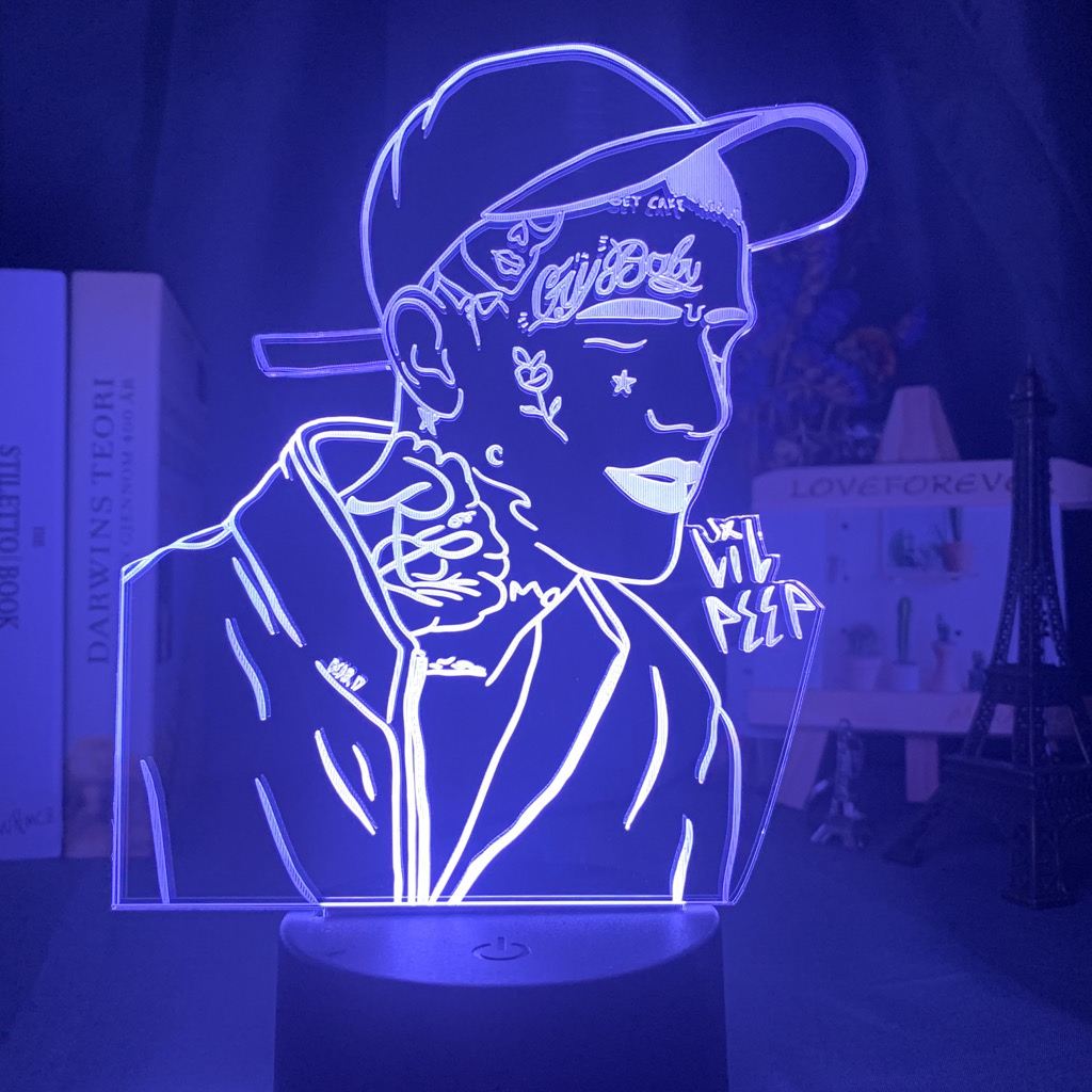 3d Lamp Lil Peep Figure Nightlight For Bedroom Decor 7 Colors Changing Light Gift For Fans Dropshipping Night Light Celebrity