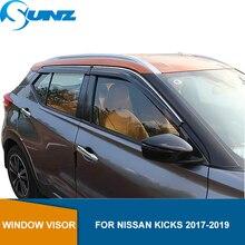Déflecteur de fenêtre latérale pour Nissan coups de pied 2017 2018 2019 2020 pare brise pare Vent pare soleil pluie déflecteur garde SUNZ