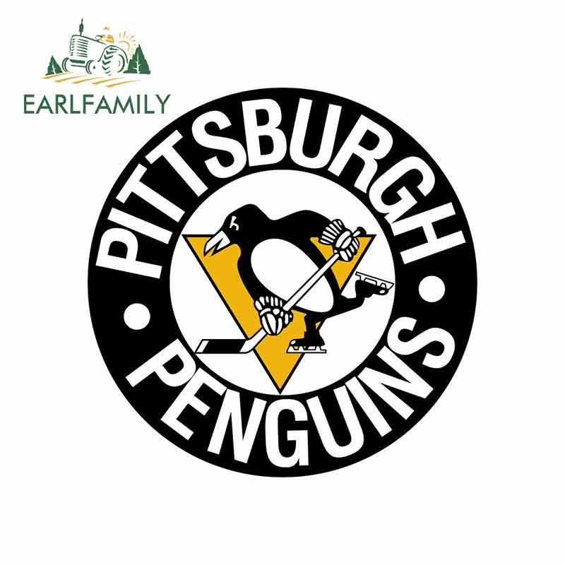 EARLFAMILY 13cm X 13cm For Pittsburgh Penguins Novelty Fine Decal Suitable For VAN SUV Car Truck Pinup Graffiti Stickers