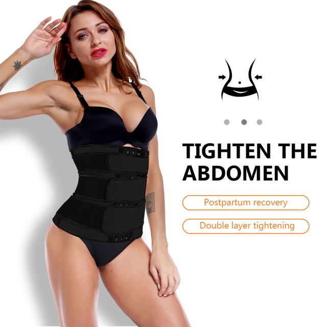 Waist Trainer Women Thermo Sweat Belts For Women Waist Trainers Corset Tummy Body Shaper Fitness Modeling Strap Waste Trainer 2