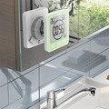 Lcd digital à prova dwaterproof água para salpicos de água relógio parede do banheiro chuveiro relógios temporizador temperatura umidade cozinha lavagem quarto temporizadores