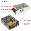 DC 5 V 2A 3A 4A 5A 6A 8A 10A 20A 30A 40A 60A Led Schalter Netzteil Transformator, konstantstrom-led-treiber Adapter 5 V