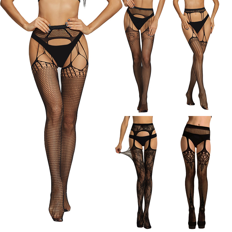 Summer Lady Fashion Sexy Women Stylist Fashion Lace Top Tights Thigh High Stockings Fishnet Nightclubs Pantyhose Over Knee Socks