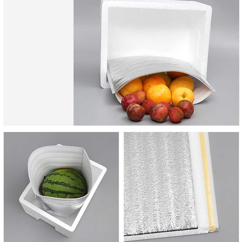 10Pcs ถุงอาหารกลางวันความร้อนฉนวนกันความร้อนอลูมิเนียมฟอยล์อาหารการจัดส่งกระเป๋า