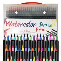 20/24/48 Colors Watercolor Brush Pen Set for Painting Drawing Soft Brush Pen Coloring Manga Comic Calligraphy Art Supplies