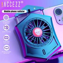 ! ACCEZZ مشتت حراري للهواتف المحمولة, مروحة تبريد محمولة للهواتف المحمولة مشتت حراري لهاتف iPhone 11 XS XR 8 7 Xiaomi Samsung Universal Gaming Fan Cooler Pad