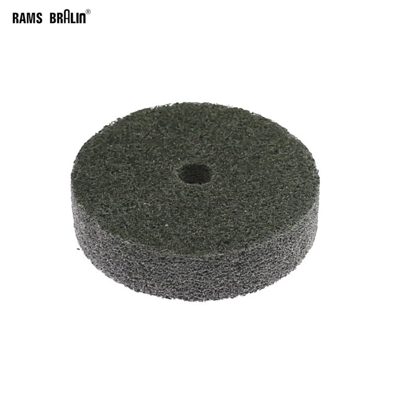 1 Piece 75*20*10mm Non-woven Unitized Polishing Wheel 7P P180 For Metal Surface Finishing