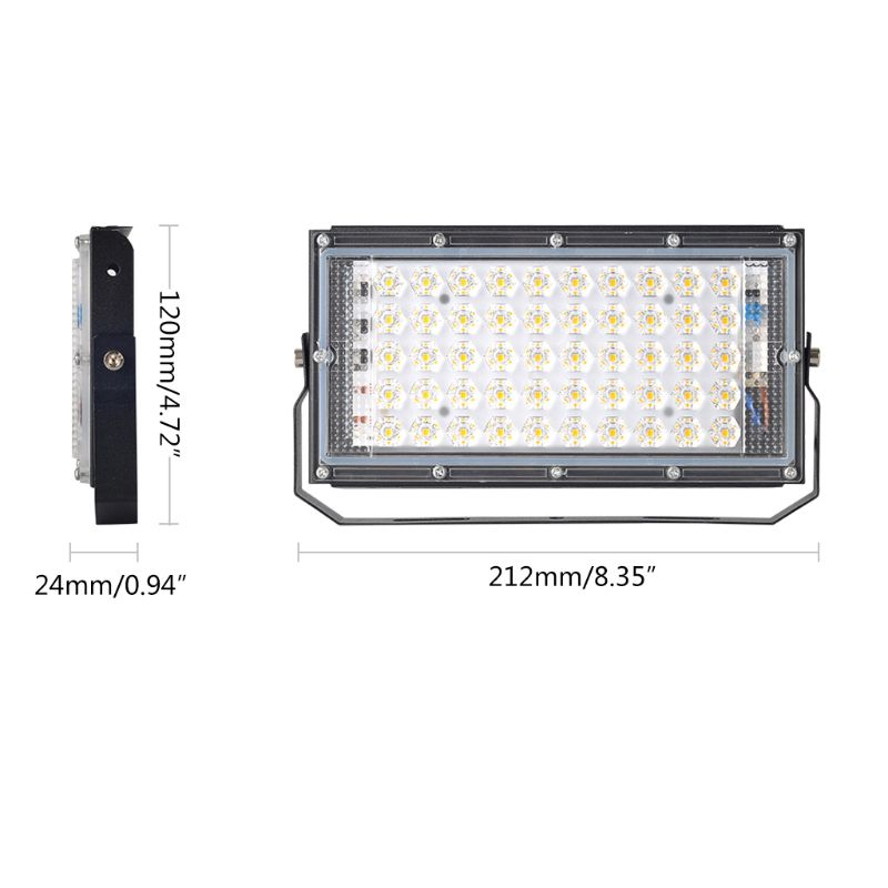 Floodlight Outdoor <font><b>Spotlight</b></font> 50W Wall Washer <font><b>Garden</b></font> Lamp Reflector IP65 <font><b>12V</b></font> Y98E image