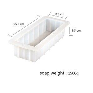 Image 2 - Moule à savon rectangulaire en Silicone, moule à pain blanc Flexible à enlever, 40 onces, 10 pouces