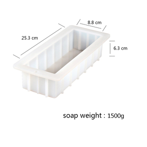 Image 2 - Rectangular Silicone Soap Mold 40 Ounce 10 Flexible Easy Removal White Loaf Mould