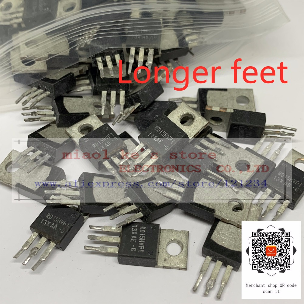 [5pcs/1lot] [ Used Goods ]; RD15HVF1 RD15HVF1-101- [ 175MHz 520MHz, 5W Replaced 2SC1972 ] Longer Foot Or Short Foot . Stock