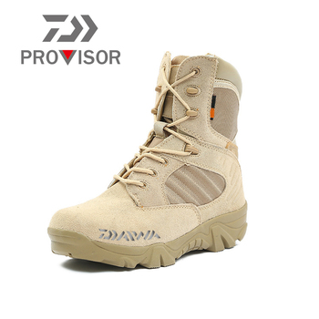 2020 New Daiwa Fishing Boots Men Outdoor Shoes Non-slip Fishing Shoes Breathable Winter Shoes Camouflage Fishing Climbing Shoes